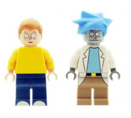 "Rick Sanchez & Mortimer ""Morty"" Smith, Sr - Custom Designed Minifigure"